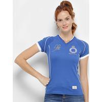 Camiseta Cruzeiro Retrô Mania 2003 Alex Tríplice Coroa Feminina - Feminino