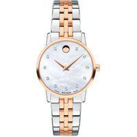 Relógio Movado Feminino Aço Prateado E Rosé - 607209