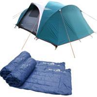 Barraca Camping Nautika Laredo Até 9 Pessoas + 2 Colchonetes Camp Mat - Unissex