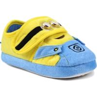 Pantufa Infantil Para Menina Meu Malvado Favorito Minions - Azul/Amarelo - Feminino