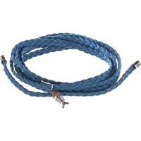 Pulseira Voltas Peixinho - Feminino-Azul+Prata