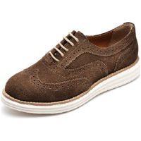 Sapato Oxford Plataforma Feminino Q&A Calçados Marrom