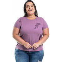 T-Shirt Miss Masy Plus Jaguar Roxo