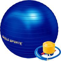 Gym Ball Gold Sports 75Cm Com Bomba De Pé Azul Royal