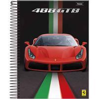 Caderno Espiral Foroni Capa Dura Ferrari 96 Folhas