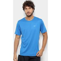 Camiseta Mizuno Wave Run New Masculina - Masculino-Azul+Branco