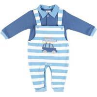 Macacão Infantil Para Bebê Menino - Azul