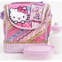 Lancheira Escolar Infantil Hello Kitty Xeryus