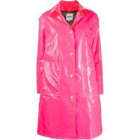 Aspesi Laminated Single-Breasted Coat - Rosa