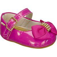 Sapato Boneca Envernizado Com Laã§O- Pinkgriff