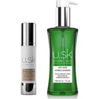 Kit U.Sk Sérum Antioxidante Booster + Sabonete Líquido Facial Acnecleanser Under Skin 1 Unidade