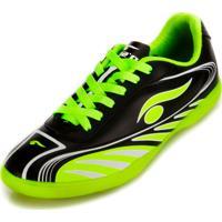 Chuteira Futsal Dsix 6203 Preto/Verde