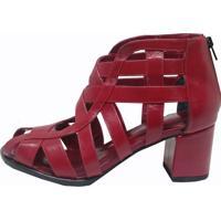 Sapato Thádiva Queen Vermelho