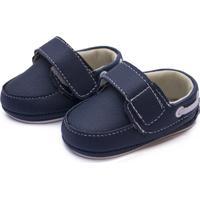 Sapato Com Tiras Autocolantes Bebe Azul Kapell