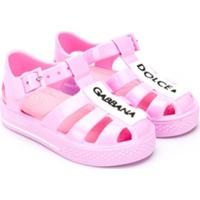 Dolce & Gabbana Kids Sapato Com Patch - Rosa