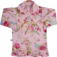 Camisa Milkfun Floral Rosa