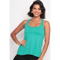 Blusa Lisa Com Renda- Verde- Thiptonthipton