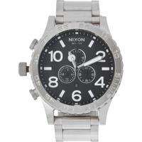 4069e4055 Relógio Nixon Chrono 51-30 A083 000 Prata