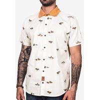 Camisa Patos Gola Mostarda 200095
