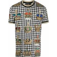 Dolce & Gabbana Camiseta Com Coroa E Espinha De Peixe - Preto