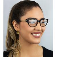 Óculos De Grau Versace Acetato Marrom Mesclado - 0Ve3288 108 54