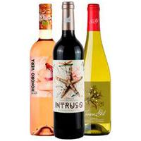 Vinho Tinto Intruso Monastrel + Vinho Rose Vegano Honoro V. Tempranillo/Sirah + Vinho Branco Vegano Juan Gil Moscatel
