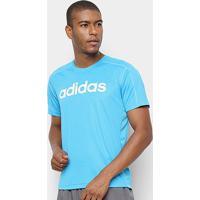 Camiseta Adidas D2M Masculina - Masculino-Azul Turquesa