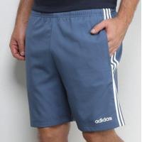 Short Adidas Essentials 3 Stripes Chelsea Masculino - Masculino-Cinza
