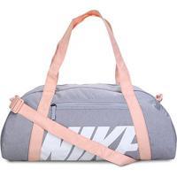 Bolsa Nike Gym Club Feminina - 30 Litros - Unissex-Grafite+Branco