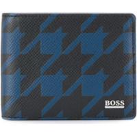 Boss Carteira Com Padronagem - Preto