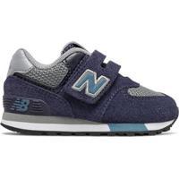 Tênis New Balance 574 Infantil Masculino - Masculino-Azul