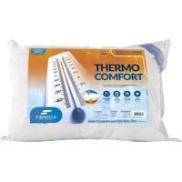 Travesseiro Fibrasca Thermo Comfort Branco -Tecido Frostygel Para O Verão E Flor De Algodão Para O Inverno - Para Fronhas 50X70Cm.