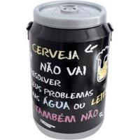 Cooler Para 24 Latas Doctor Cooler Frase - Unissex-Preto
