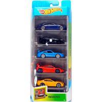 Pack Com 5 Carrinhos Hot Wheels Hw Exotics - Mattel
