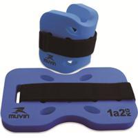Caneleira De Peso P/ Hidroginástica Muvin 1 - 2Kg Azul