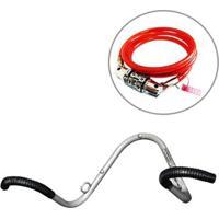 Kit Suporte Vertical De Parede Para 02 Bicicletas Al-70 Altmayer + Cadeado Vermelho Com Segredo - Unissex