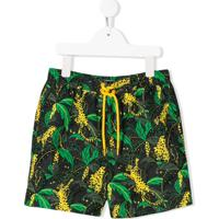 Stella Mccartney Kids Short De Natação Palms - Verde