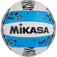 Bola De Vôlei Mikasa Vxs Zb - Branco/Azul Cla
