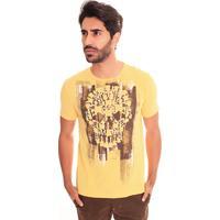 Camiseta Convicto Com Estampa Amarela