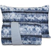 Jogo De Colcha Solteiro Altenburg Malha In Cotton 100% Algadão - Blue Dream Azul