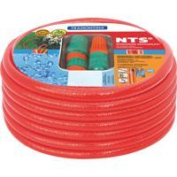 Mangueira Nts® Antitorção, 25 M, Com Engates Rápidos E Esguicho - Cor Vermelho - Tramontina