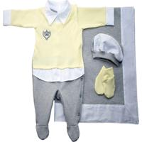 Saída De Maternidade I9 Baby Meu Príncipe Amarelo 100% Algodão