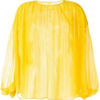Giambattista Valli Blusa De Chiffon - Amarelo