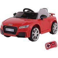 Carrinho Elétrico Infantil Audi Tt Rs 12V Com Controle Remoto Belfix - Unissex-Vermelho