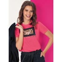 Blusa Com Bordado De Lantejoulas Rosa
