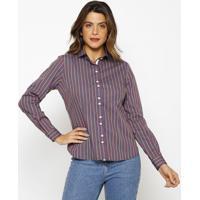 Camisa Listrada - Azul & Amarelavip Reserva