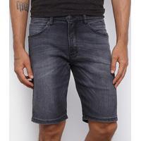 Bermuda Jeans Hd Dusky Slim Masculina - Masculino-Preto