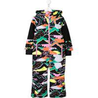 Stella Mccartney Kids Landscape Print Snowsuit - Preto