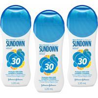 Kit Com 3 Protetor Solar Sundown Starck Fps 30 120Ml - Unissex-Incolor
