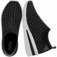 Tênis Sneaker Gigil Calce Fácil Anabela Hotfix Preto